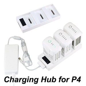 3 IN 1 Battery Charger for DJI Phantom 4 Pro V2.0 Advanced Drone Parallel Charging Hub Charging Board With Display Monitor Parts(China)