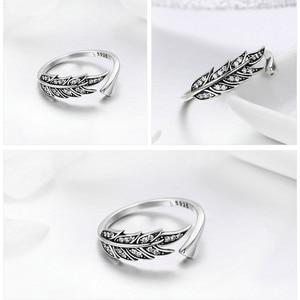 Image 5 - Sierlijke blad 925 sterling zilver verstelbare ring voor vrouwen mode sieraden Valentijnsdag gift