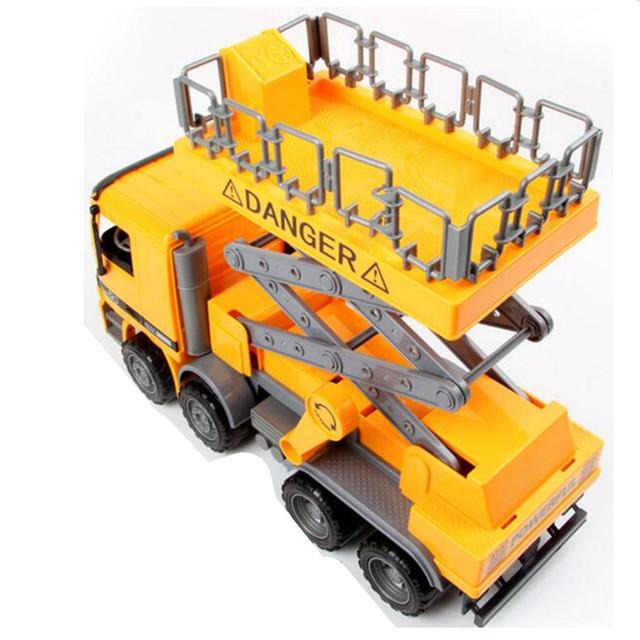 Tamaño 1:22 Scal grande Modelo de Camión de Reparaciones de Coches de La Calle, nuevo Diseño de Vehículo Camión De Juguete Modelo de Coche Juguetes para Niños Regalo de Los Niños
