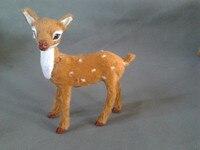 Simulation Deer Toy Polyethylene Furs Deer Model Funny Gift About 10cmx6cmx15cm