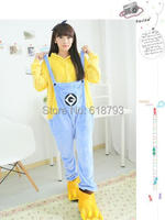 Lovely Minions yellow cosplay sleepwear animal Pajamas movie Despicable me cute winter party clothes