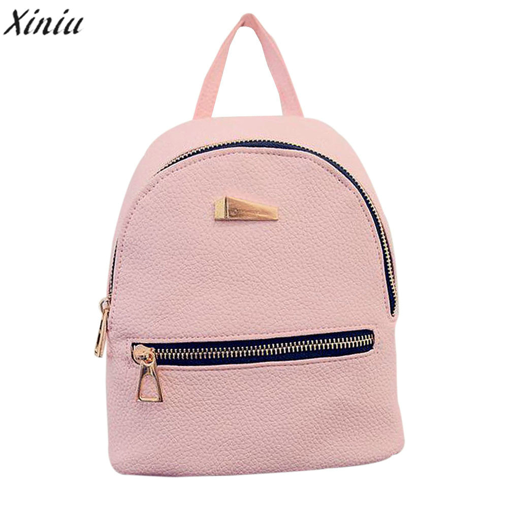 5006a7a47d XINIU Best Selling New Fashion Shell Type Women s Leather Backpack Travel  School Rucksack High Quality Leisurely Small Backpacks-in Backpacks from  Luggage ...