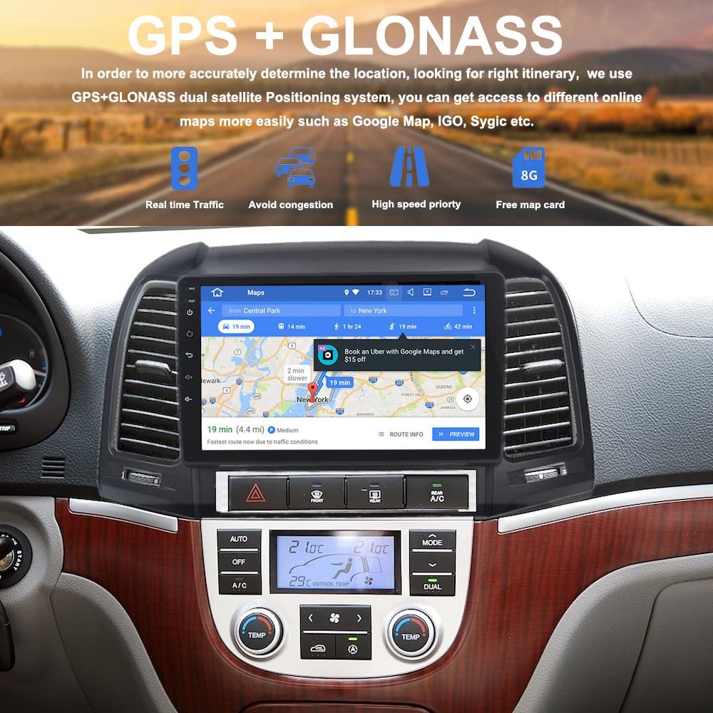 My Car Store >> 1 din Android 8.0 Car Radio for Hyundai Santa Fe GPS Navigation 2006 2007 2008 2009 2010 2011 ...