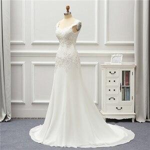 Image 3 - Jeanne Liefde Chiffon Mermaid Trouwjurken 2020 Kralen Applique Lace Robe De Mariage Vestido De Noiva Brida Jurken Wedding Gown