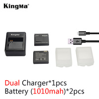 KingMa NEW Arrivel Kit Charging For Two Pieces XiaoYi Battery Charger 2 1010mAH Battery For XiaoYi