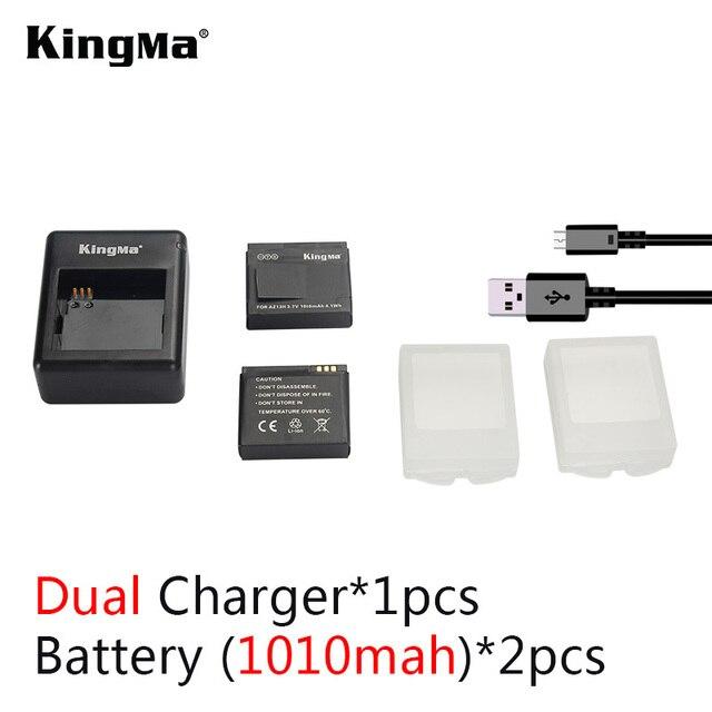 KingMa Xiaomi yi батареи 2 ШТ. 1010 мАч xiaoyi аккумулятор + сяо ю. и. зарядное устройство Для xiaomi yi действий камера xiaomi yi аксессуары