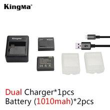 KingMa Xiaomi yi batería 2 UNIDS 1010 mAh batería + xiao xiaoyi cámara de la acción xiaomi cargador de batería Para xiaomi yi yi yi accesorios