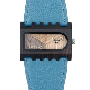 Image 5 - BOBO BIRD Fishbone นาฬิกากรณีกว้างสายนาฬิกาสุภาพสตรีคริสต์มาสของขวัญ Drop Shipping CUSTOM โลโก้ของคุณ