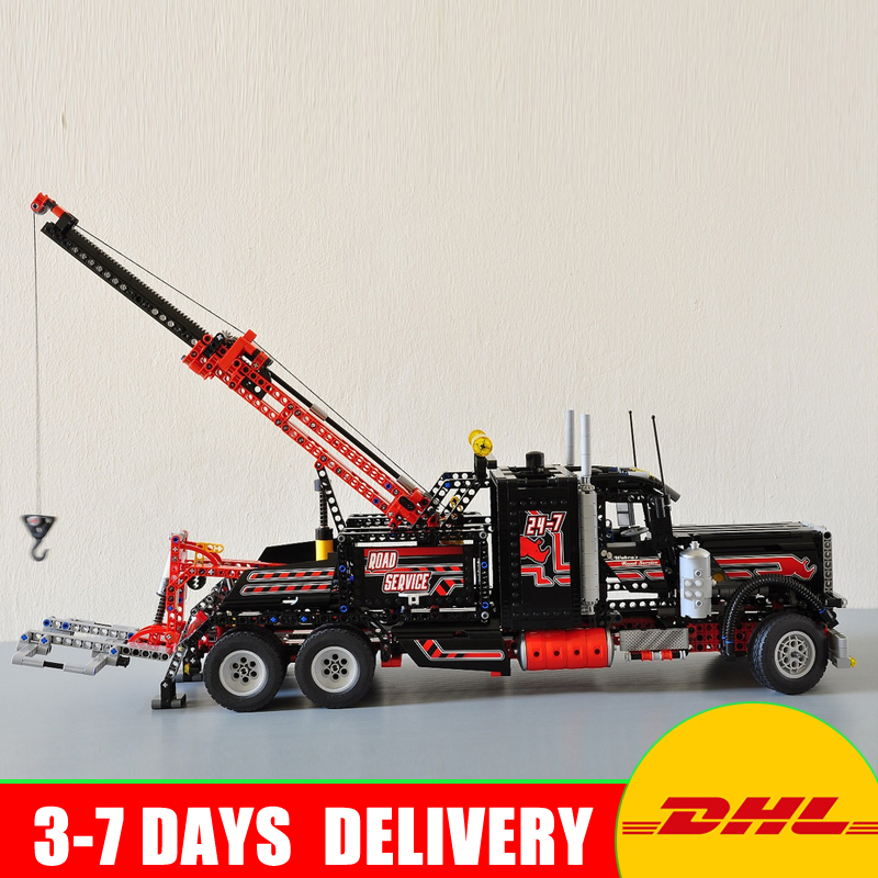IN Stock DHL LEPIN 20020 1877pcs technic series The American heavy container trucks Model Building blocks Bricks Clone Toy 8285 in stock dhl decool 3333 building blocks toy 1 10 car model supercar red assemblage racing brain game gift clone 8145