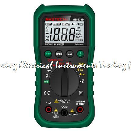 все цены на MASTECH MS8239D Digital Automotive Multimeter car engine analysis DMMS Dwell Angle/ Speed 4CYL~8CYL Continuity Tester онлайн