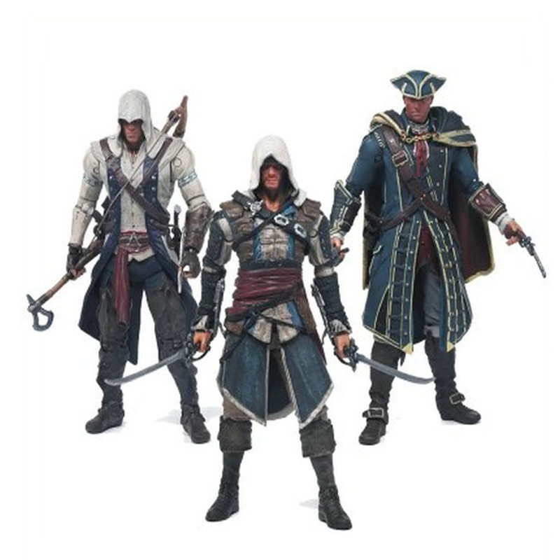 6 inches Assassins Creed 4 Black Flag Connor Haytham Kenway Edward Kenway <font><b>Action</b></font> <font><b>Figure</b></font> Edward Canvey Cosplay model toy