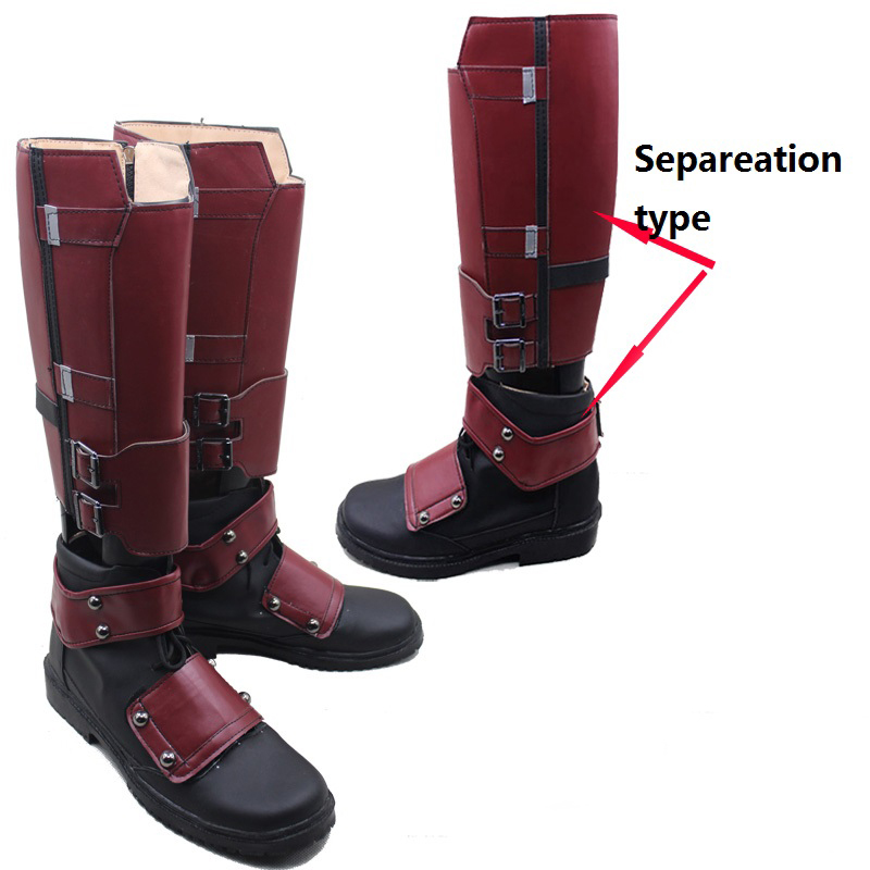 New Arrival Cool X-men Deadpool Cosplay Shoes Boots Customized Separable Qualit#