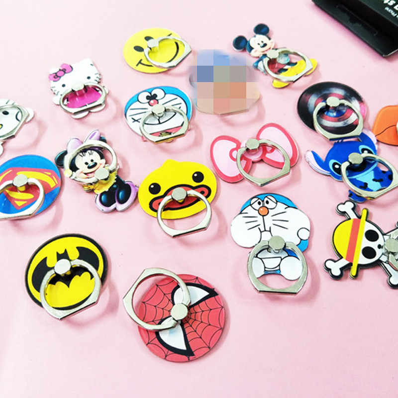smartphone finger ring stand car phone holder For iphone x xiaomi note 5 Stich Mickey Minnie HelloKitty For Smsung