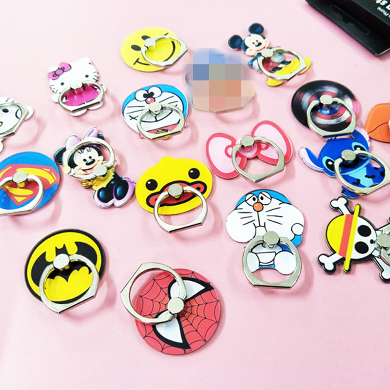 smartphone finger ring stand car phone holder For iphone x xiaomi note 5 Stich Mickey Minnie HelloKitty For Smsung Car phone