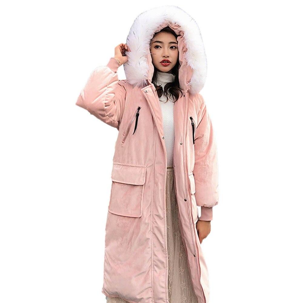 Femmes 18 Bouton Oct24 À Bk wh Capuchon Mode Survêtement Solides Fourrure 2018 bu Nouvelles Jaycosin Vestes gy pk Long Manteau Vêtements Poche De EwqUgaUp