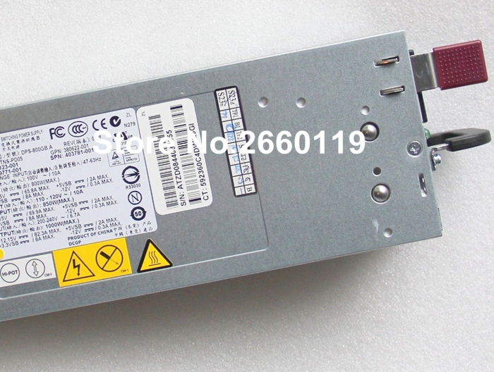 Server power supply for 379123-001 380622-001 379124-001 399771-001 403781-001 DPS-800GB A, fully tested 261437 001 252361 001 ps 6251 3c 200w server power supply for dl360 g2 used one 85
