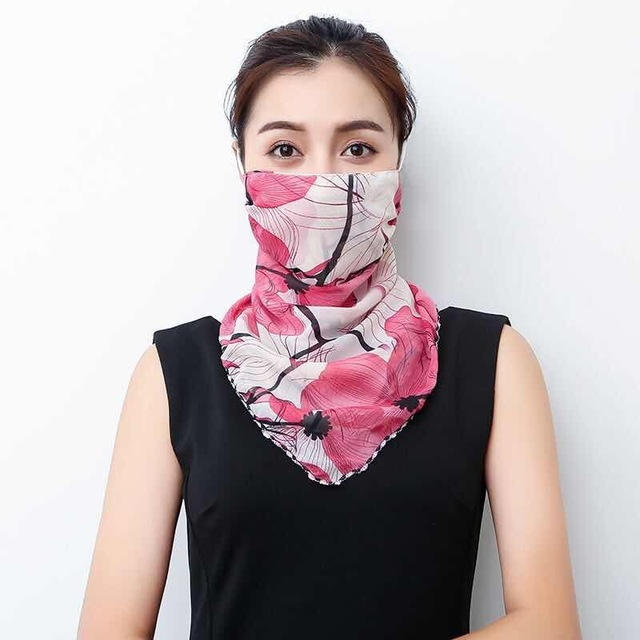2020 Hot sell mouth mask Lightweight Face Mask scarf Sun Protection Mask Outdoor Riding Masks Protective silk Scarf Handkerchief 4