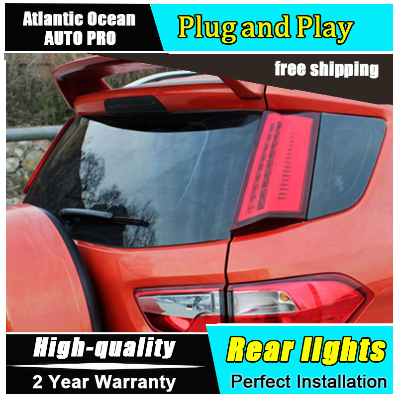 A&T Car Styling Accessories for Ford Ecopsort Taillights 2014-2015 LED Tail Lamp LED Rear Lamp DRL+Brake+Park+Signal led lights car styling tail lamp for toyota corolla 2014 2015 2016 taillights tail lights led rear lamp led drl brake park signal stop lamp