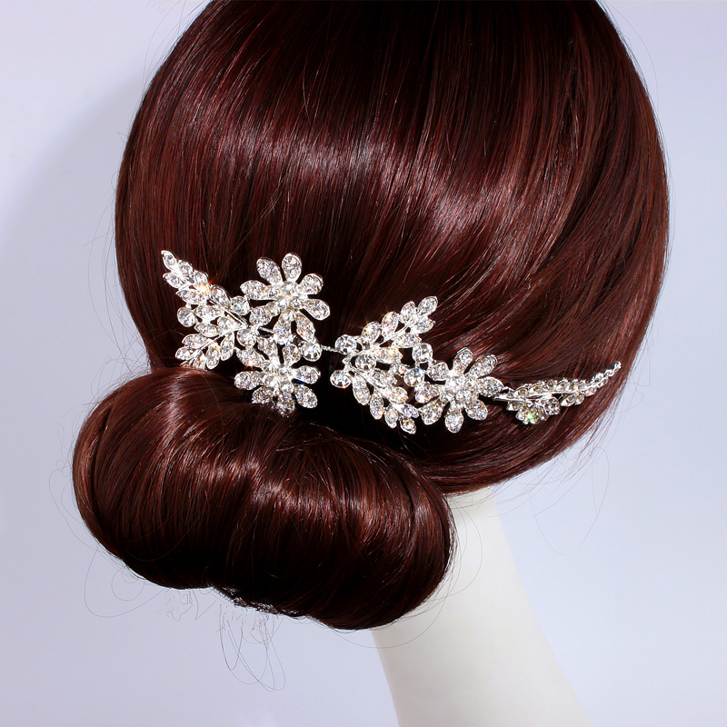 Wedding Hairstyles With Jewels: Elegant Crystal Wedding Hair Jewelry Accessories For Women