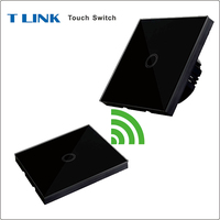 TLINK EU UK Standard 1 Gang 2 Way Touch Switch Wireless Remote 433Mhz 1527 Chip Wall