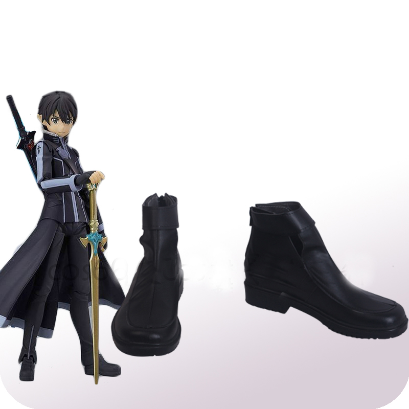 Sword Art Online Kirigaya Kazuto Kirito Cosplay Shoes Boots Halloween Carnival Party Costume Accessories