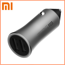 Original Xiaomi Car Charger Dual USB Car-Charger Quick Charge Competiable with Most smart Phones Tablet PC for Samsung iPhone