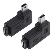 Connector Micro-Usb Adapter Female 90-Degree 2pcs L-Shaped Left/right-Angle
