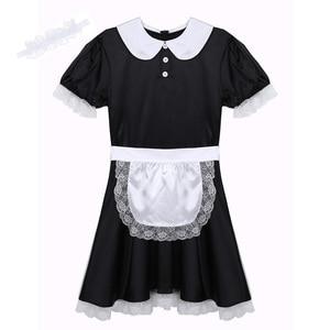 Image 5 - Mens Sissy ชุดชั้นในบทบาทเล่นเครื่องแต่งกายสาวแม่บ้านชุดคอสเพลย์เซ็กซี่ Clubwear ตุ๊กตาคอ Babydoll ชุด Headband และผ้ากันเปื้อน