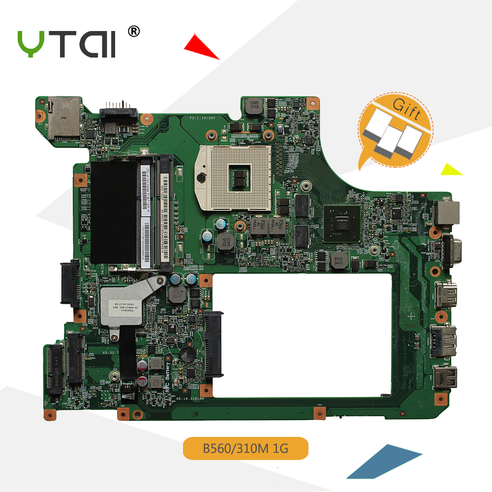 YTAI For Lenovo B560 laptop motherboard HM55 DDR3 1G with GeForce 310M graphics card mainboard 48.4JW06.011 fully tested hot for lenovo z500 laptop motherboard viwzi z2 la 9061p z500 2g video card with graphics card ev2a 100% tested