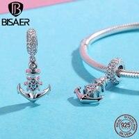 Authentic 100 925 Sterling Silver Ocean Anchor Charms Fit Original 925 Bracelet Necklace Women Pendant Jewelry