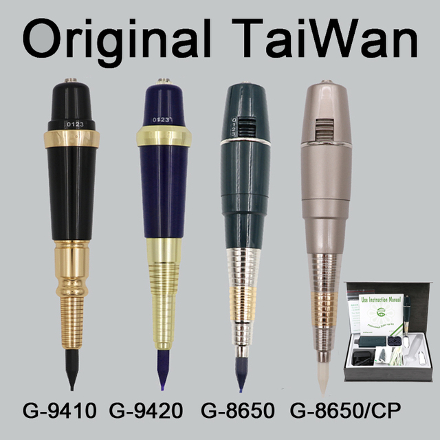 Professional Taiwan G-8650 Eyebrow Tattoo Machine Pen For Permanent Makeup Basic Eyebrows Forever MAKE UP kit With Tattoo ink