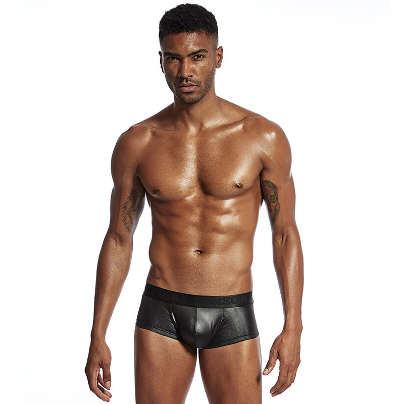 Men Sex Panties for Sex Solid Big Pouch Panties Latex Underwear Sex Panties for Men Boxer Berifs Sexy Hot Hot Man Lingerie M XXL in Boxers from Novelty Special Use