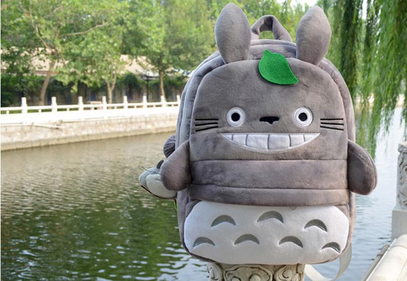 Totoro Children Backpack Plush Baby School Bag Teenagers Shoulder Bag Kid Hayao Miyazaki Toys Boy Girl Schoolbags Mochila BP0175 (3)