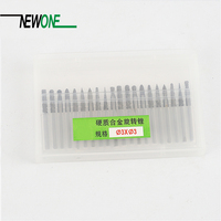 Tungsten Carbide Rotary Burrs Milling Cutter Engraving Drill BitS Set 20PC Mini Drill Rotary Tool Accessories