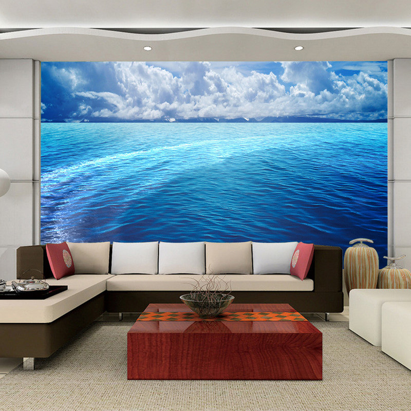 beibehang Custom Photo Wallpaper 3D Stereoscopic HD Sea And Sky Landscape Large Mural Bedroom Non-woven Wallpaper For Walls 3D beibehang modern luxury circle design wallpaper 3d stereoscopic mural wallpapers non woven home decor wallpapers flocking wa