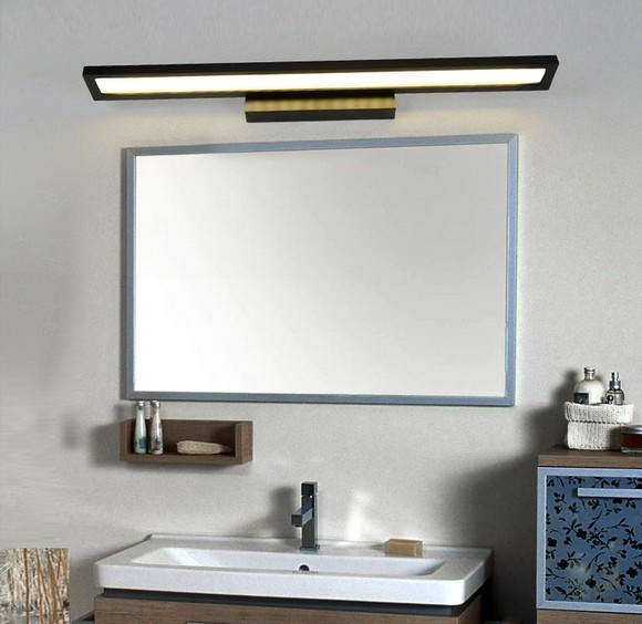 Simple Bathroom Wall Sconces : Simple acrylic modern wall sconce waterproof fog rotation mirror led wall light fixtures for ...