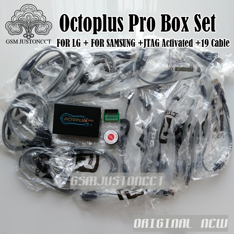 Newest Version octoplus Pro Box + eMMC / JTAG Activated AND 19 Cable Set  For Samsung LG