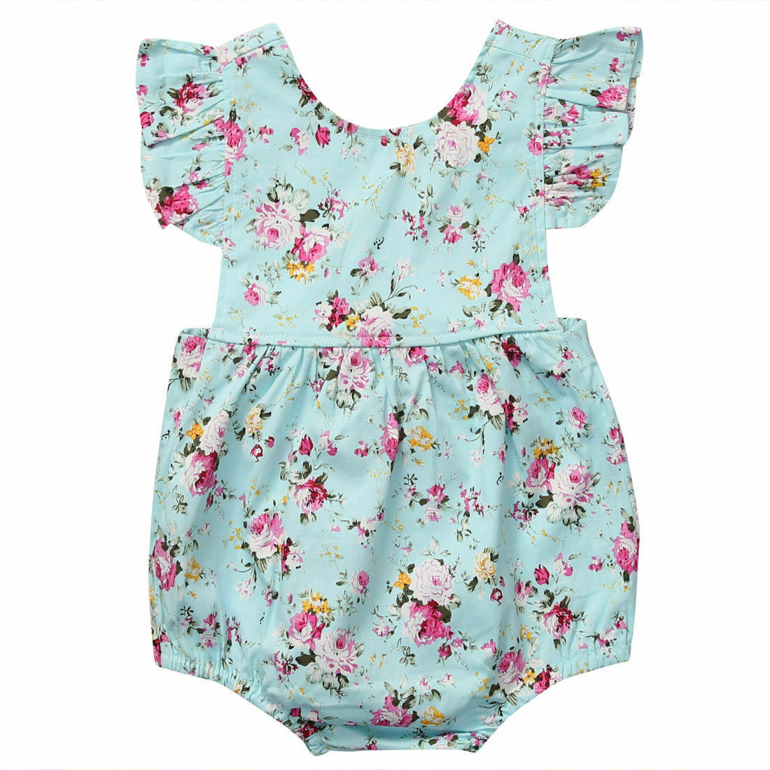 0-18M Toddler Baby Girls Clothes Summer Flying Sleeveless Floral Fashion Cotton Baby   Romper   One Piece Jumpsuit Baby Clothes