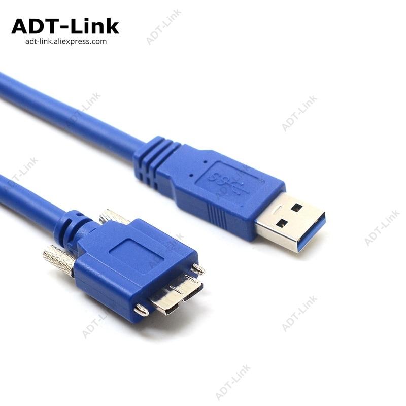 1 M 2 M 3 M Usb 3.0 Micro B Für Industrie Kamera Gute WäRmeerhaltung Datenkabel Ehrgeizig Usb 3.0 A/m Zu Micro B/m Mit Dual Schraube Locking Kabel