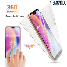 2in1 Depan Belakang 360 Full Body Cover Melindungi Soft Case untuk Huawei P30 Pro P9 P10 Plus P20 Mate 20 lite 10 Enjoy 7S P Smart Tritone(China)