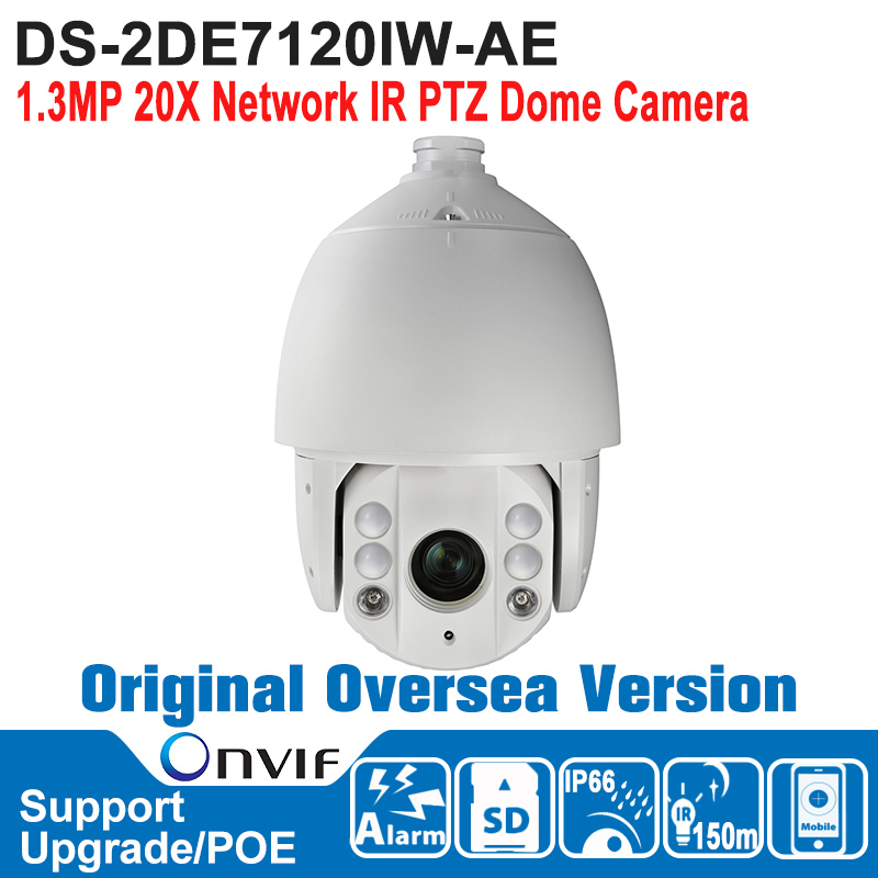 HIK DS-2DE7120IW-AE HIK Speed Dome Camera 1.3MP 20X Network IR PTZ Dome Camera Outdoor ONVIF IP66 P2P H.264/MJPEG ds 2df7274 ael hik ptz camera 1 3mp network ir ptz dome camera speed dome camera outdoor high poe ip66 h 264 mjpeg mpe