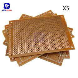 5 шт. Универсальный печатной платы 50x70 мм 2,54 мм отверстие шаг DIY Прототип бумага печатные платы панель 5x7 см односторонний доска