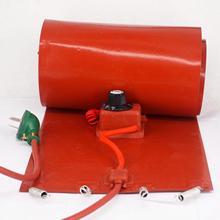 200 L (55 ליטר) 250x1740x1.6mm 3000W גמיש הסיליקון להקת תוף דוד שמיכת שמן ביו דיזל חבית חוטי חשמל