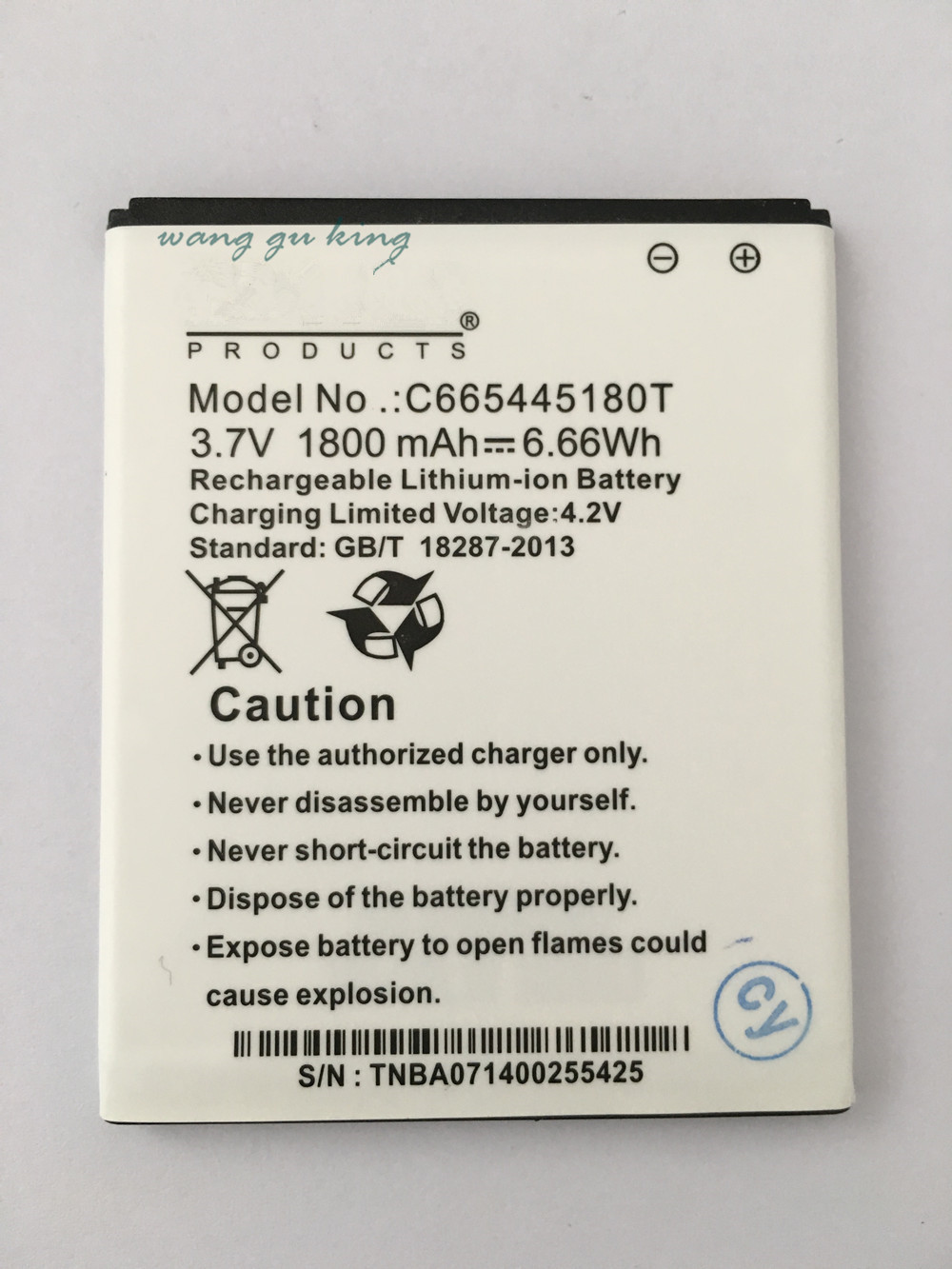 VBNM <font><b>3.7V</b></font> <font><b>1800</b></font> <font><b>mAh</b></font> Replacement C665445180T Battery For BLU NEO 4.5 D330L + Baterij Batterie Cell Phone Batteries image
