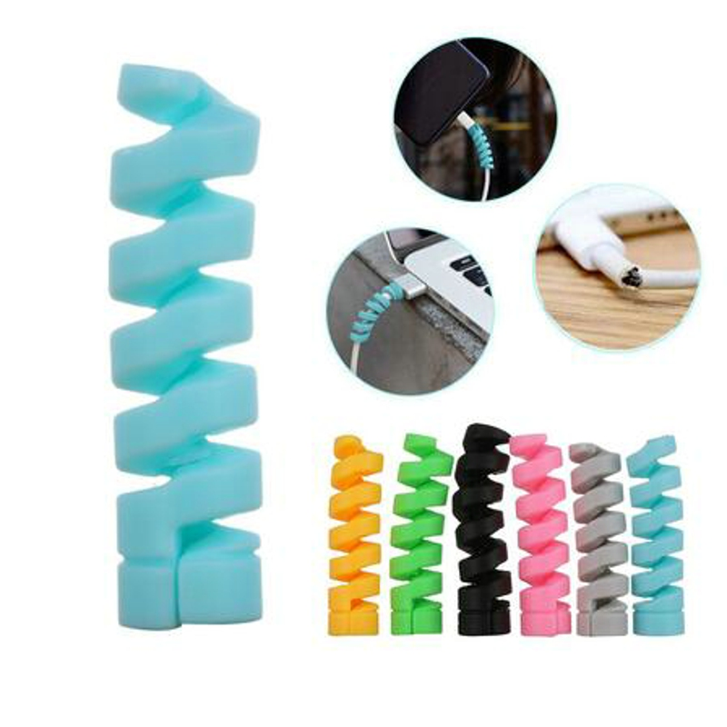 Cable Winder Protective Case Spiral Cable protector For iphone Android USB Charging earphone