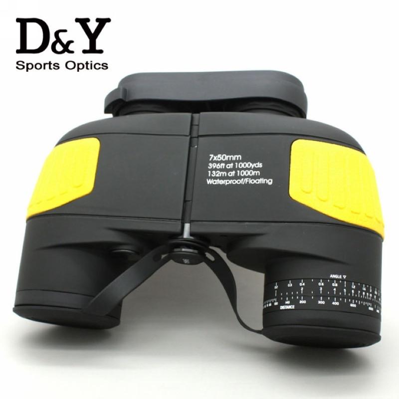7X50 10X50 font b rangefinder b font military binocular Professional marine floating binoculars telescope DYB012
