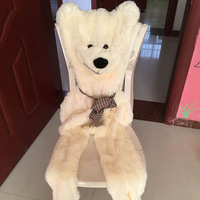 200 cm Bear Skin Plush toys without stuffed bearskin Plush Pillow gift