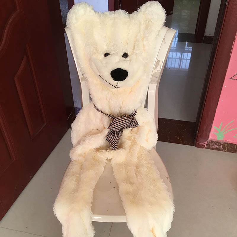 200 cm Bear Skin Plush toys without stuffed bearskin Plush Pillow gift
