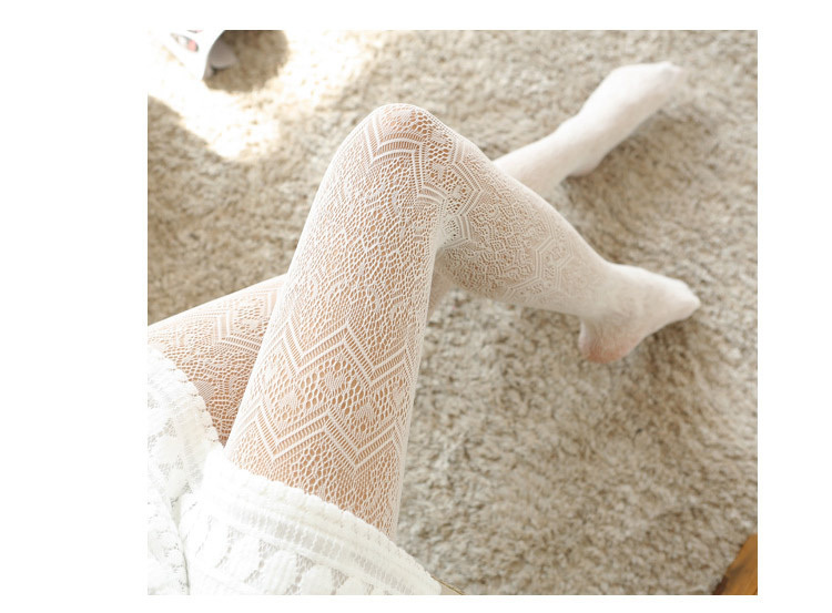 Summer Women Fishnet Tights Love Wave Sexy Female Pantyhose Stockings Hollow Out Silk Stockings For Girl Woman Collant Hosiery 26