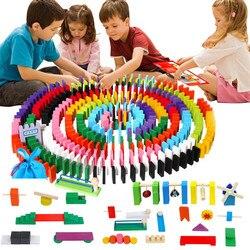 120 pçs/set crianças de madeira dominó instituição acessórios jigsaw brinquedos dominós interativos jogo blocos órgão aprendizagem crianças brinquedo